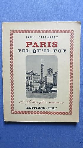 Paris tel qu'il fut.: CHERONNET (Louis)