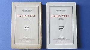 Paris vécu 1re série. Rive droite. Paris vécu 2e série. Rive gauche.: ...