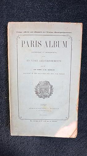 Petit album historique et monumental divisé en vingt arrondissements.: LESPES (léo) BERTRAND...