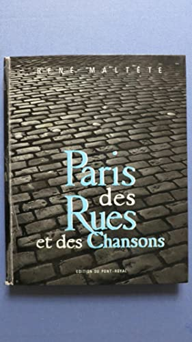 Paris des rues et des chansons.: MALTESTE (René)