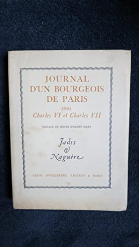 Journal d'un bourgeois de Paris sous Charles: MARY (André)