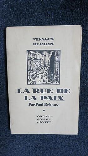 La Rue de la Paix.: REBOUX (Paul)