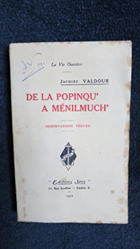 De la Popinq' à Ménimuch'.: VALDOUR (Jacques)
