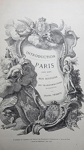 Paris coup d'oeil sur son histoire et ses transformations successives.: YRIARTE (Charles)