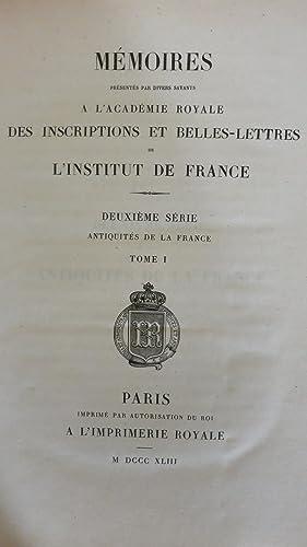 Mémoires présentés par divers savants à l'Académie royale ...