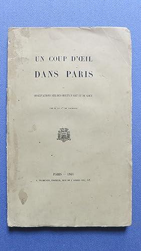 Un coup d'oeil sur Paris. Observations sur des objets d'art et de goût.: VAUBLANC (...