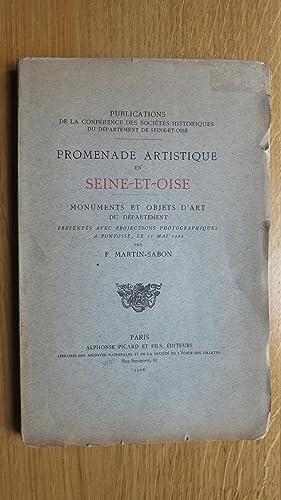 Promenade artistique en Seine et Oise. Monuments et Objets d'art du département pr&...