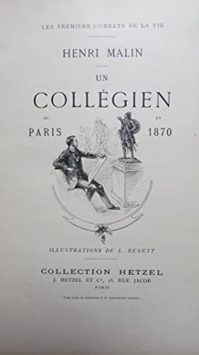 Un collégien de Paris en 1870.: MALIN (Henri)