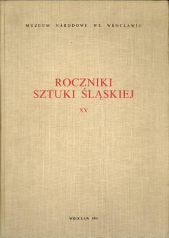 Roczniki sztuki slaskiej XV: HERMANSDORFER, MARIUSZ.ET AL