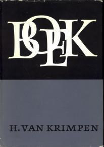 Boek. Over het maken van boeken: KRIMPEN, H. VAN