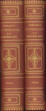Neerland's letterkunde in de negentiende eeuw. Bloemlezing ten gebruike bij de beoefening ...