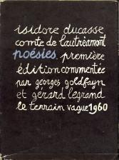 Poésies: DUCASSE, ISIDORE , COMTE DE LAUTREMONT