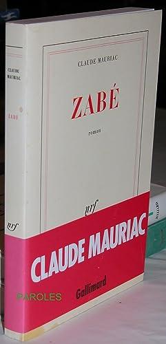 Zabé.: MAURIAC (Claude)
