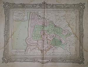 Généralité d'Amiens - Carte Du Doyenne De Montreuil De L'election De...