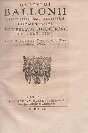 Epidemiorum et Ephemeridum,Libri Duo - Definitionum Mrdicarum -Commentarius in Libellum Theophrasti...