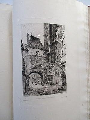 Rouen illustré, Album. Eaux-Forte Par J. Adeline, Brunet-Debaines, Max. Lalanne et H. ...