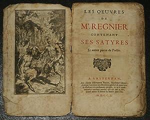 Les Oeuvres De Regnier Contenant Ses Satyres et Autres Pièces De Poésie: Regnier ...