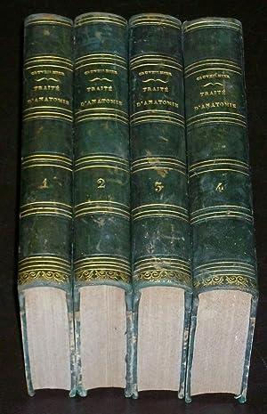 Traité D'anatomie Descriptive. ( Complet En 4 Volumes ): Cruveilhier J.