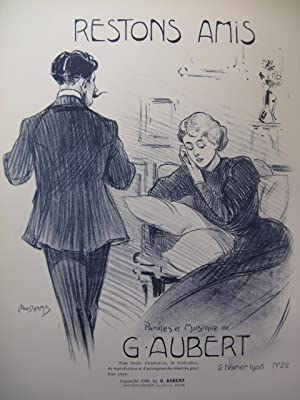 AUBERT Gaston Restons Amis Pousthomis Chant Piano 1908
