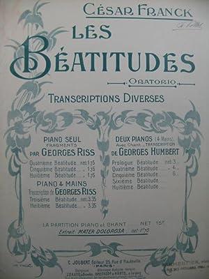 FRANCK César Les Béatitudes Mater Dolorosa Chant: FRANCK César Les