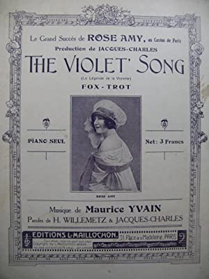 YVAIN Maurice The Violet Song Fox Trot: YVAIN Maurice The