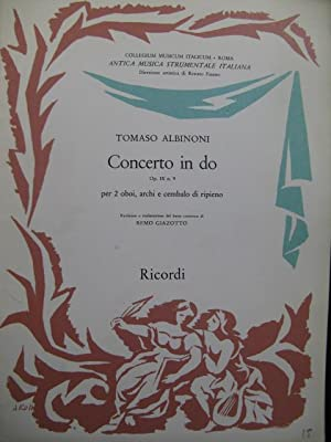 ALBINONI Tomaso Concerto in do Orchestre 1959