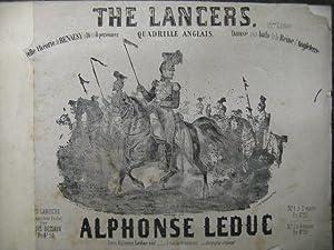 LEDUC Alphonse The Lancers Piano Danse 1853: LEDUC Alphonse The