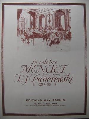 PADEREWSKI I. J. Menuet Piano 1946: PADEREWSKI I. J.