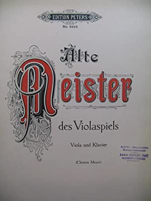 Alte Meister des Violaspiels 6 pieces Alto Piano