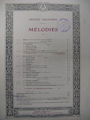 CHAUSSON Ernest Le Temps des Lilas Chant: CHAUSSON Ernest Le