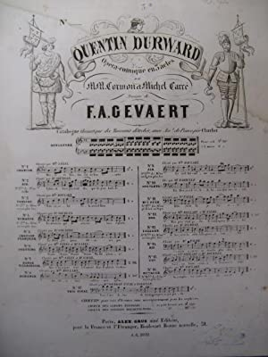 GEVAERT F. A. Quentin Durward No.3 bis Chant Piano 1858