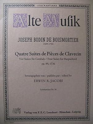BODIN DE BOISMORTIER Joseph 4 Suites Clavecin: BODIN DE BOISMORTIER