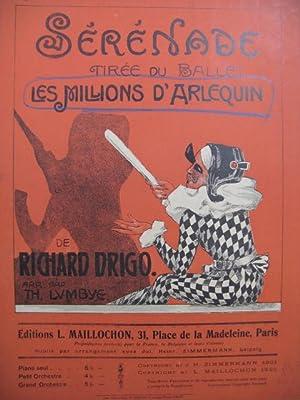 DRIGO Richard Sérénade Les Millions d'Arlequin Piano: DRIGO Richard Sérénade
