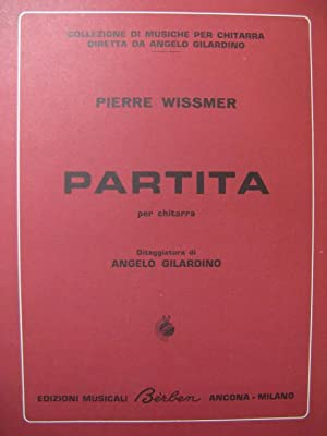 WISSMER Pierre Partita Guitare 1971