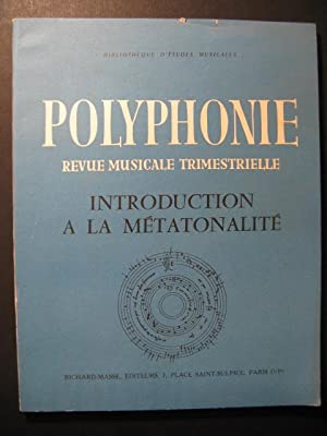 BALLIF Claude Introduction à la Métatonalité 1956