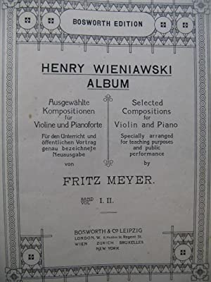 WIENIAWSKI Henry Album Selected Compositions Violon Piano