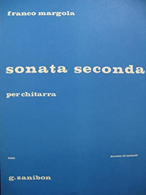 MARGOLA Franco Sonata Seconda Guitare 1979