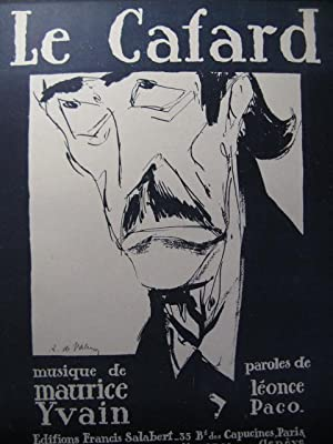 YVAIN Maurice Le Cafard Chant Piano 1921: YVAIN Maurice Le