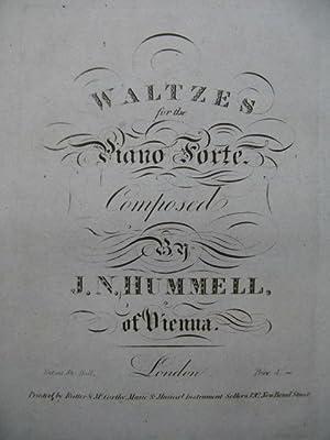 HUMELL J. N. Waltzes Piano ca1830: HUMELL J. N.