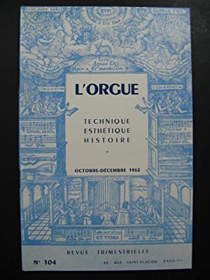 L'Orgue Revue Trimestrielle No 104