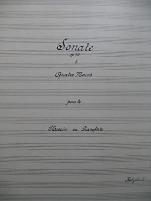 KOTZELUCH Leopold Sonate op 10 Manuscrit Piano 4 mains