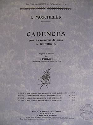MOSCHELES I. Cadences Beethoven op15 Piano: MOSCHELES I. Cadences