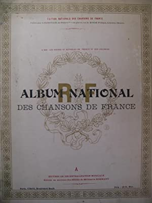 Album National des Chansons de France Chant Piano