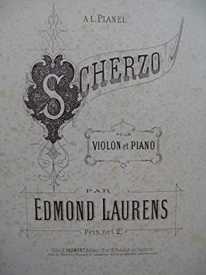 LAURENS Edmond Scherzo Violon Piano ca1890