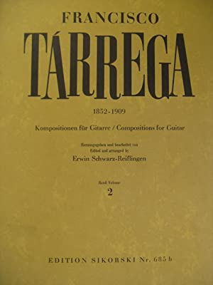 TARREGA Francisco Compositions b2 Guitare