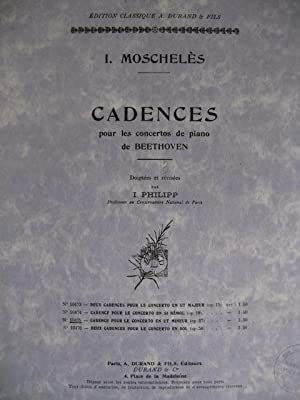 MOSCHELES I. Cadences Beethoven op37 Piano: MOSCHELES I. Cadences