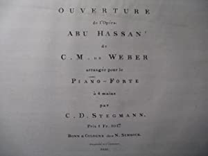 WEBER Abu Hassan Ouverture Piano 4 mains ca1827