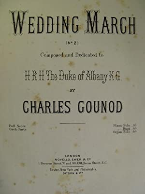 GOUNOD Charles Wedding March n° 2 Piano 4 mains ca1880