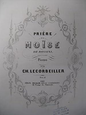 LECORBEILLER Ch. Prière de Moïse de Rossini: LECORBEILLER Ch. Prière
