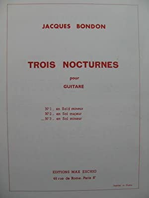 BONDON Jacques Nocturne No 3 Guitare 1972